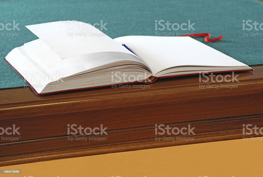 Open guestbook stock photo