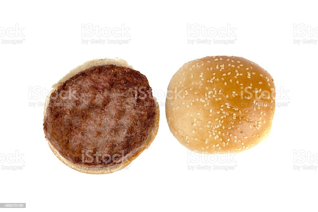 open hamburger​​​ foto
