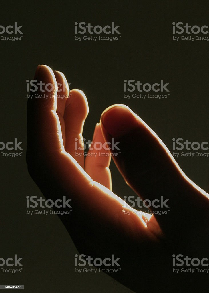 open hand royalty-free stock photo
