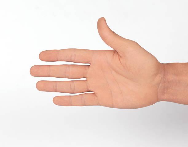 mano aperta (fare clic per ulteriori informazioni) - palmo foto e immagini stock