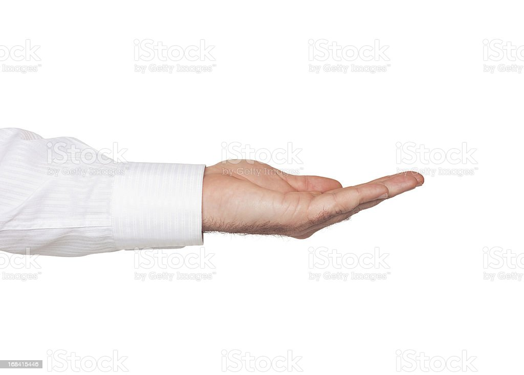 Open hand with Clipping Path royalty-free stock photo