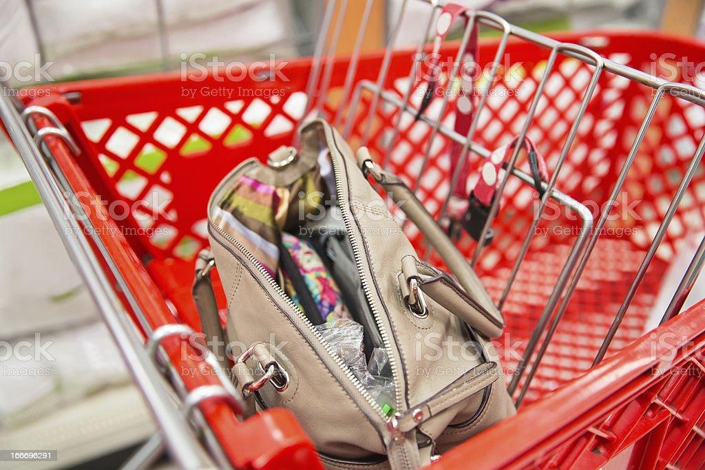 open handbag or pocketbook royalty-free stock photo
