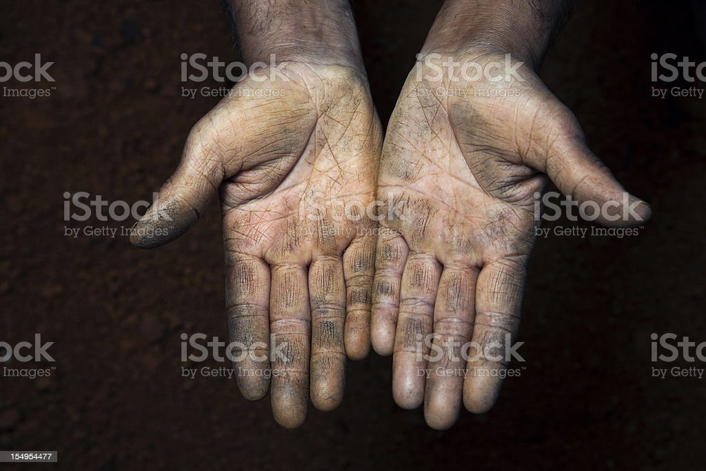Open hands royalty-free stock photo