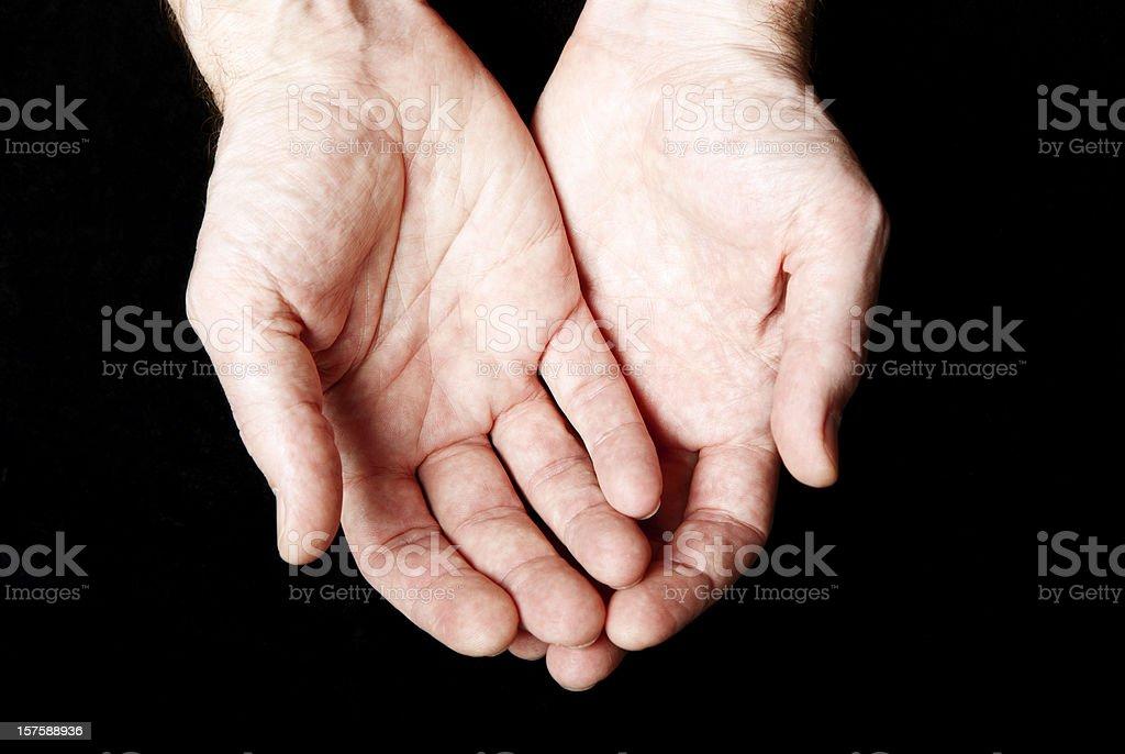 open hands stock photo