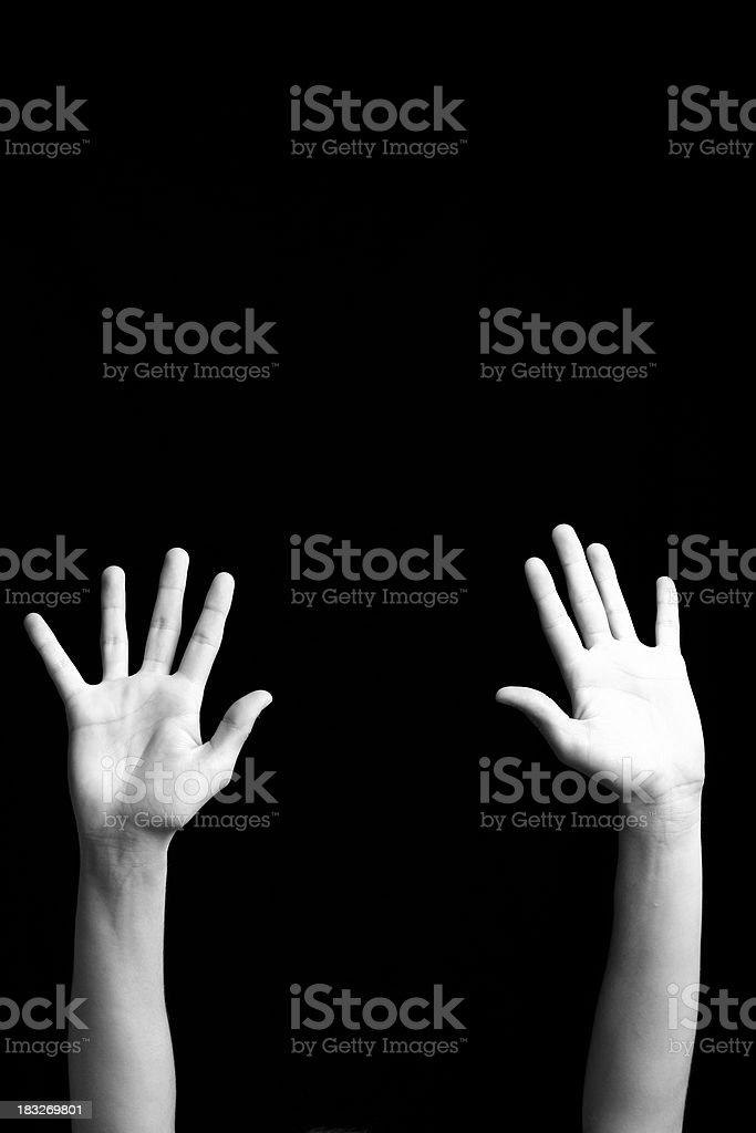 Open Hands - Praise royalty-free stock photo