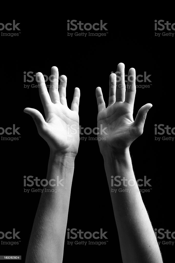 Open Hands - Worship royalty-free stock photo