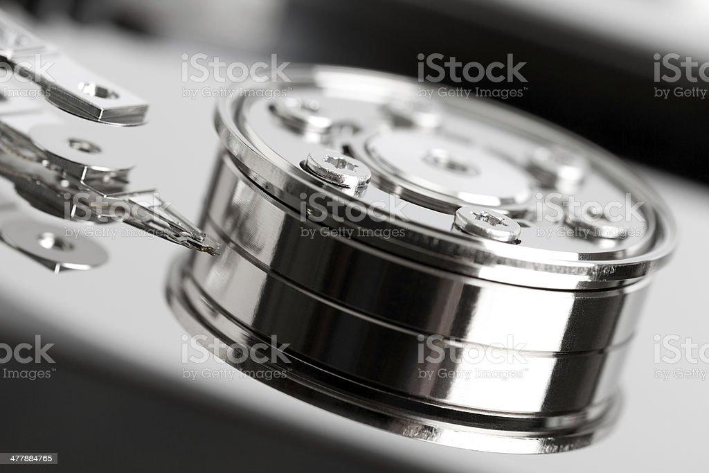 Open hard drive royalty-free stock photo