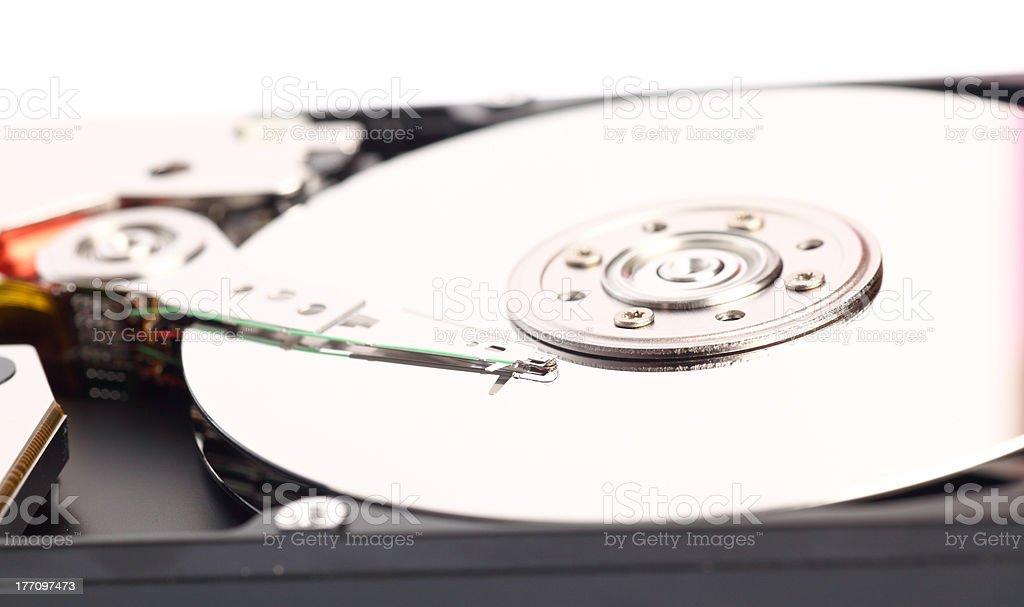 Open harddisk isolated royalty-free stock photo