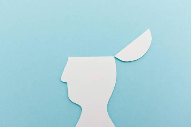 Open head illustration stock photo