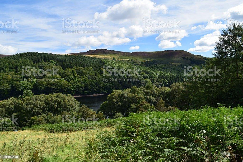 Open hilly landscape royalty-free stock photo
