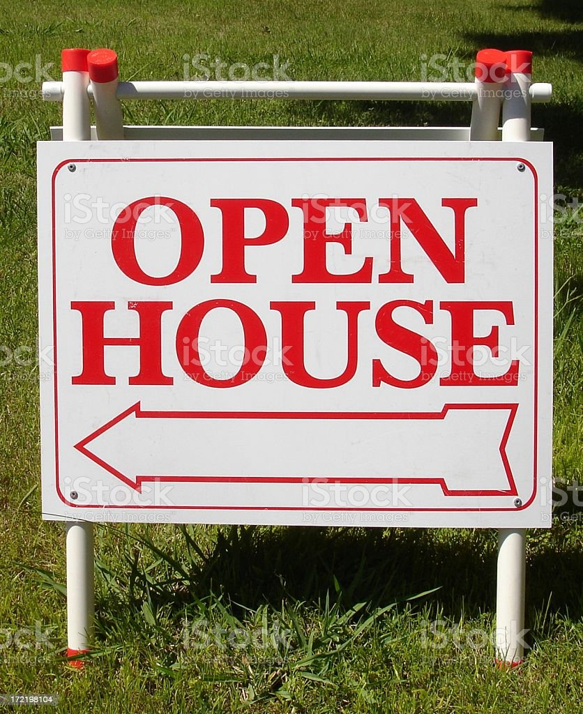 Open house real estate sign royalty-free stock photo