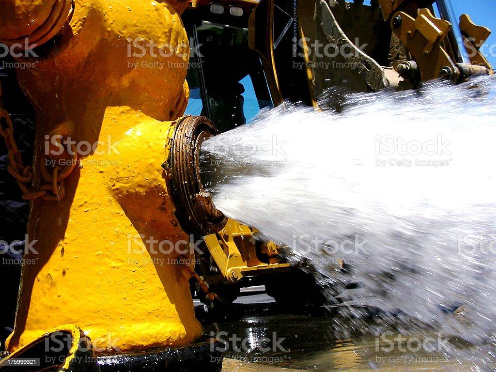 open hydrant stock photo