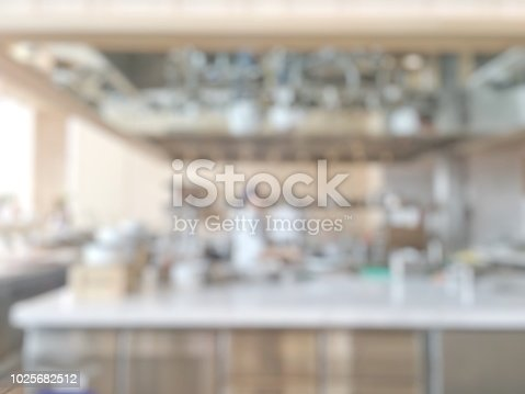886308526istockphoto Open kitchen blur background in luxury hotel restaurant facility showing chef cooking over blurry food counter for buffet catering service 1025682512