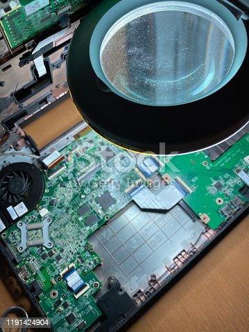 Open Laptop under Repair