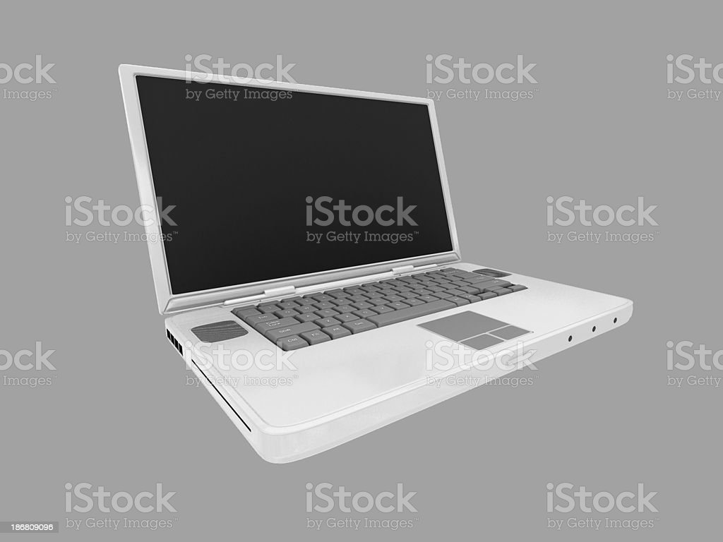 Open Laptop w/Clipping Path royalty-free stock photo