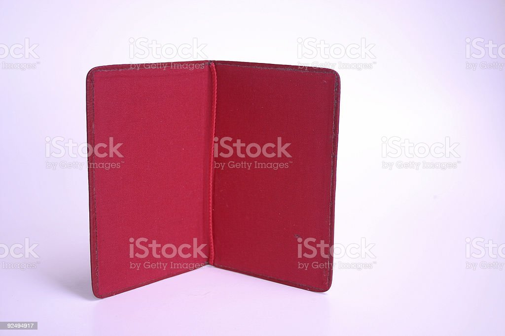 open little red book royalty-free stock photo