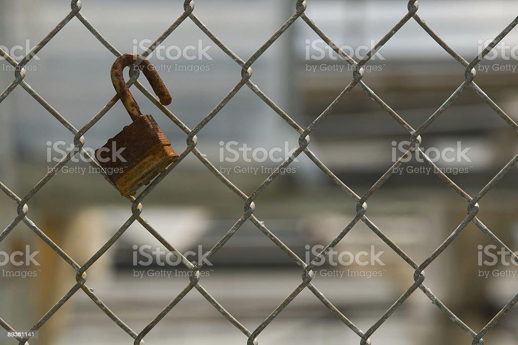 Open lock royaltyfri bildbanksbilder