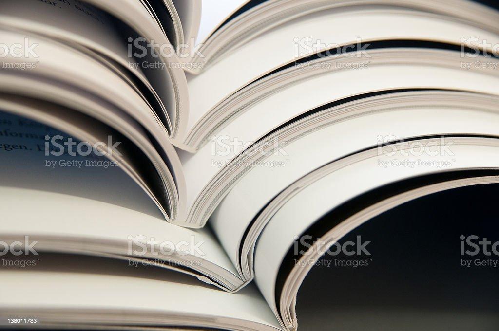 open magazines royalty-free stock photo