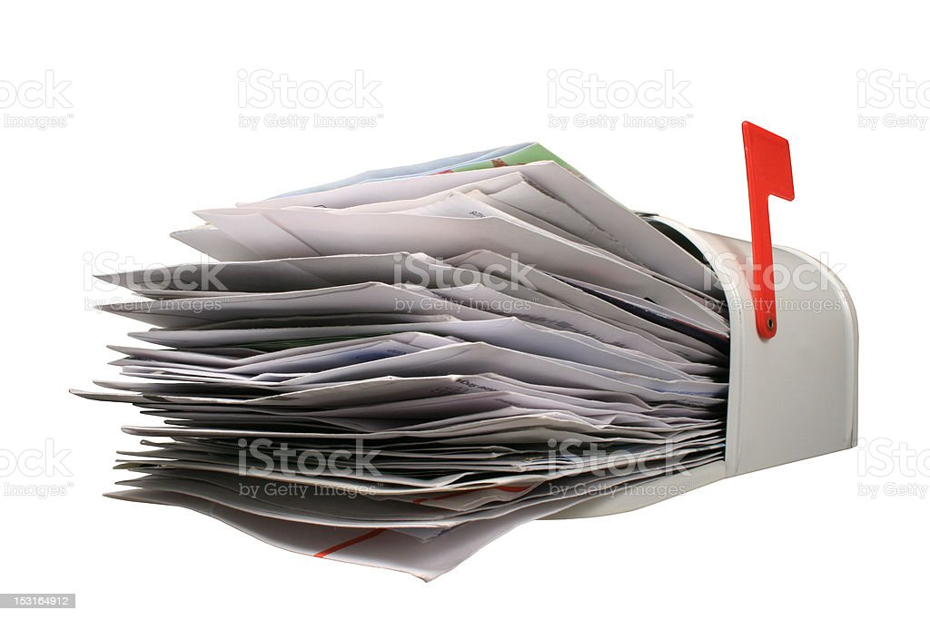 Open Mail Box. stock photo