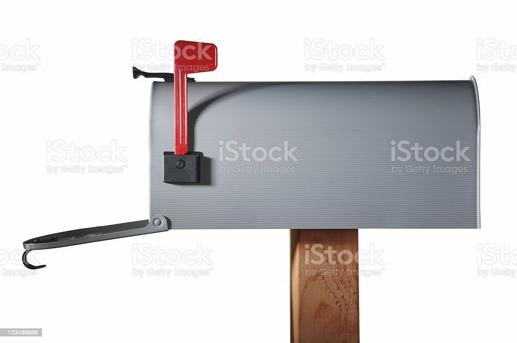 open mailbox stock photo
