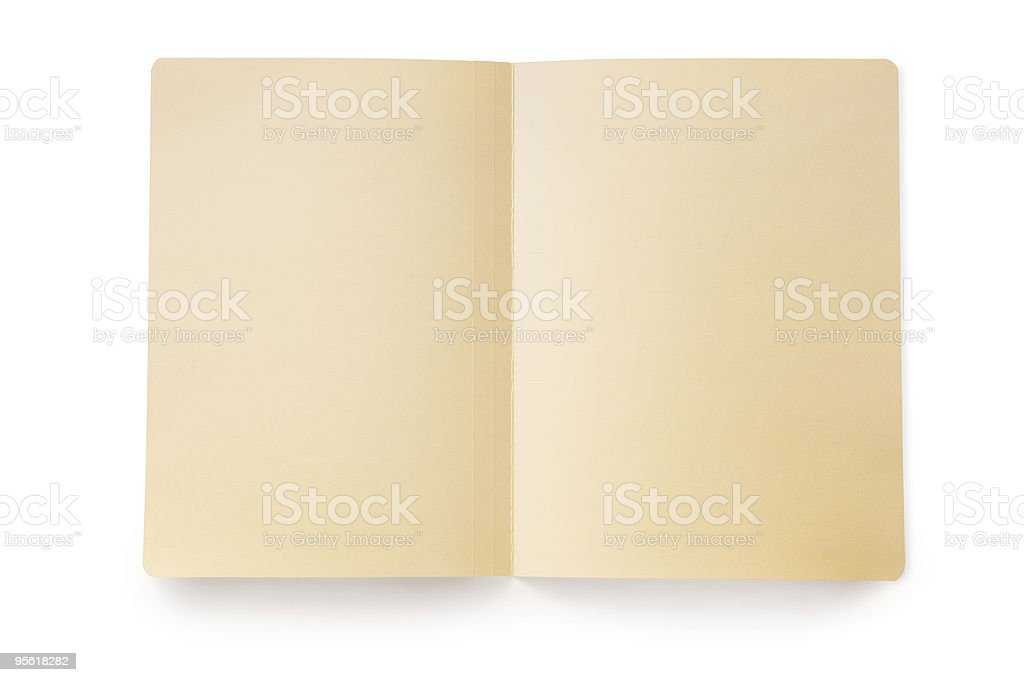 Open Manila Folder (with Path) royalty-free stock photo