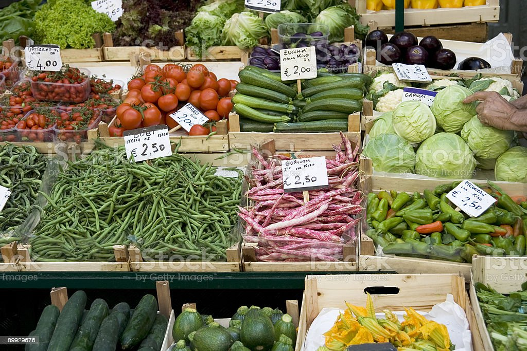 Open Market, Fruits and Vegatables on Sale royalty-free stock photo