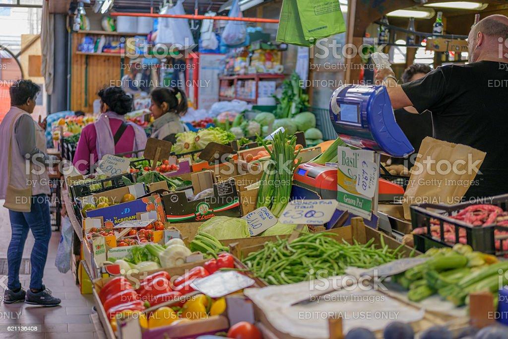 Open Market, Genoa Italy stock photo