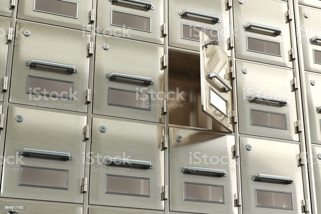 Open Metal Cabinet Box. 3d illustration royalty-free stock photo