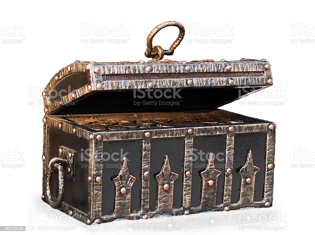 open metal chest royalty-free stock photo