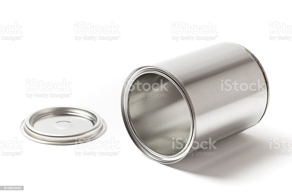 Open Metal Paint Can stock photo