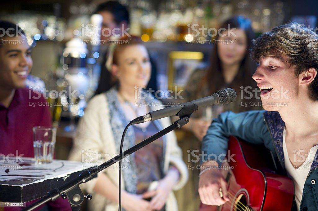 open mic night stock photo