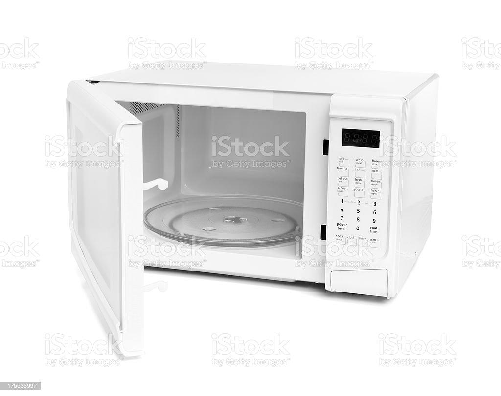 Open Microwave stock photo