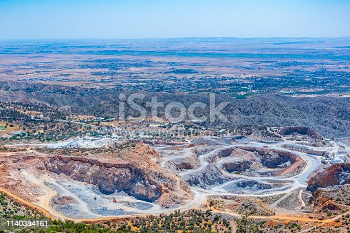 istock Open mine in the northern cyprus 1140384161