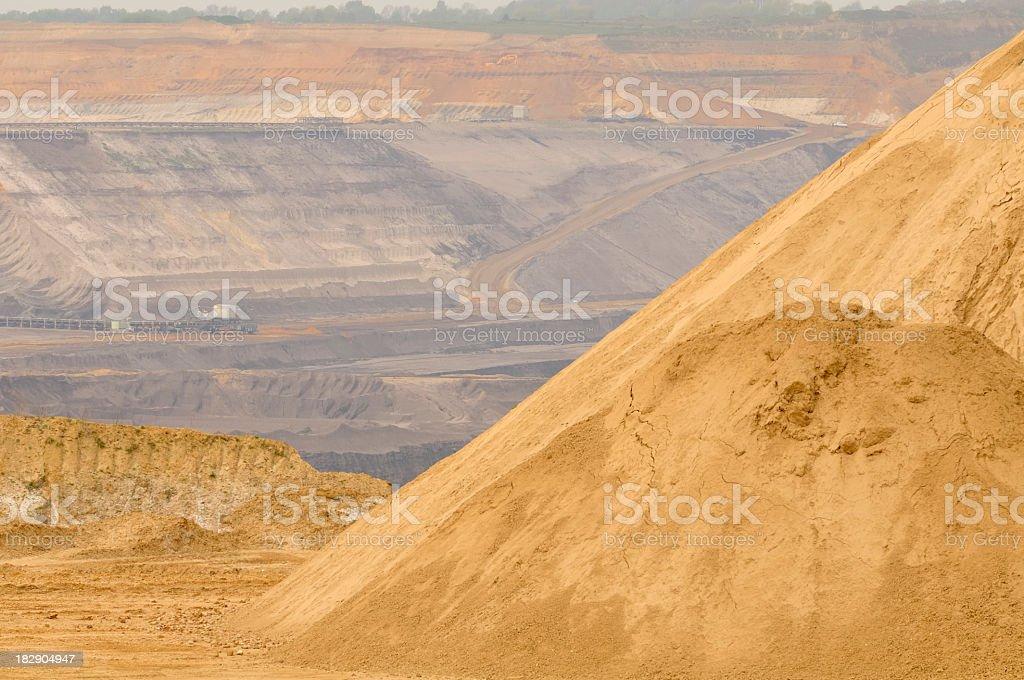 Open mining stock photo