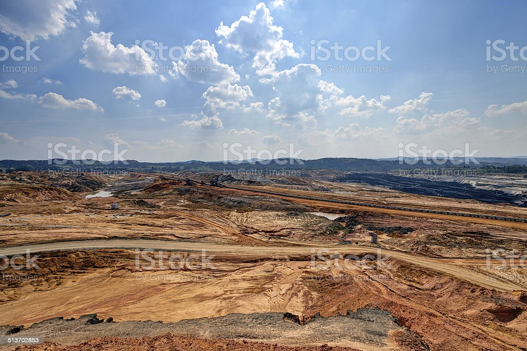 Open mining pit stock photo