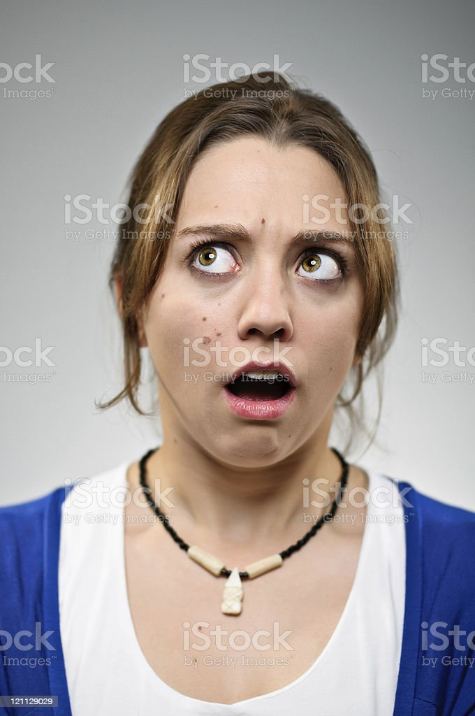 Open Mouth Shock Portrait royalty-free stock photo