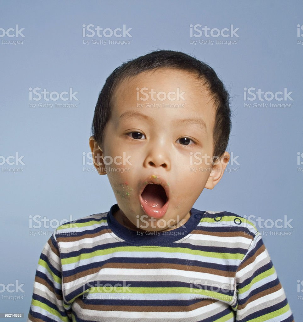 Open Mouthed Boy royalty-free stock photo
