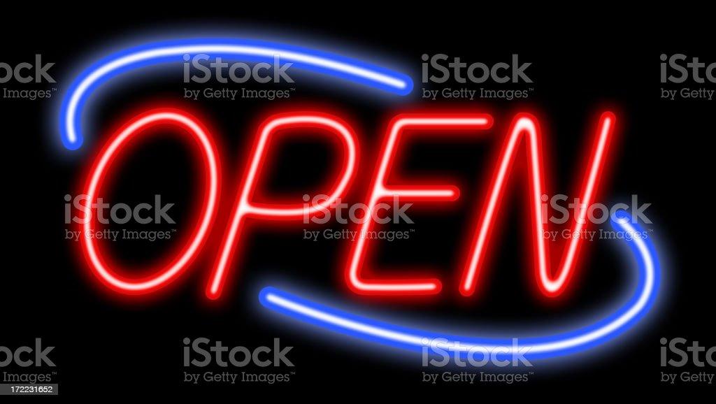 Open Neon (XXL) royalty-free stock photo