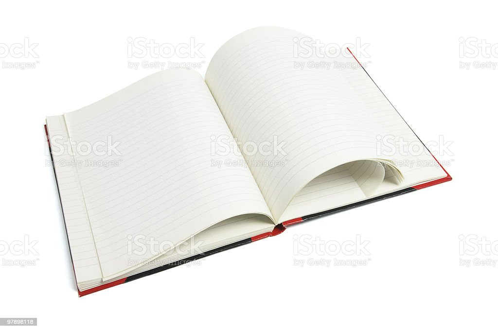 Open Note Book royalty-free stock photo