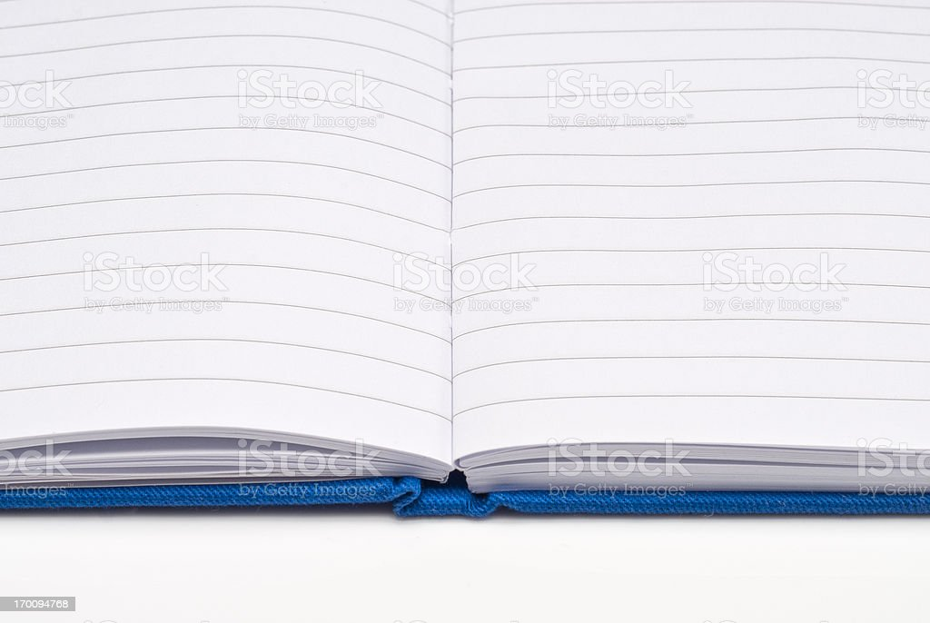 Open notebook stock photo