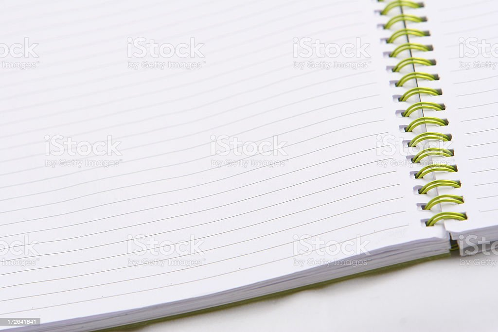 Open notebook. royalty-free stock photo