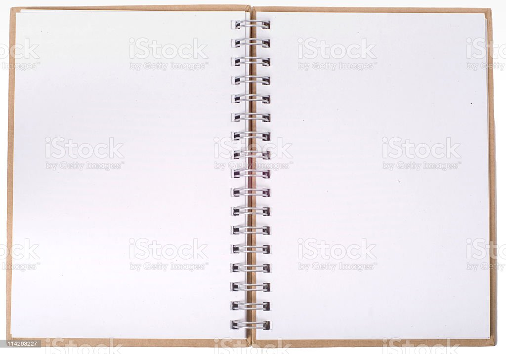 Open notebook with empty pages royalty-free stock photo
