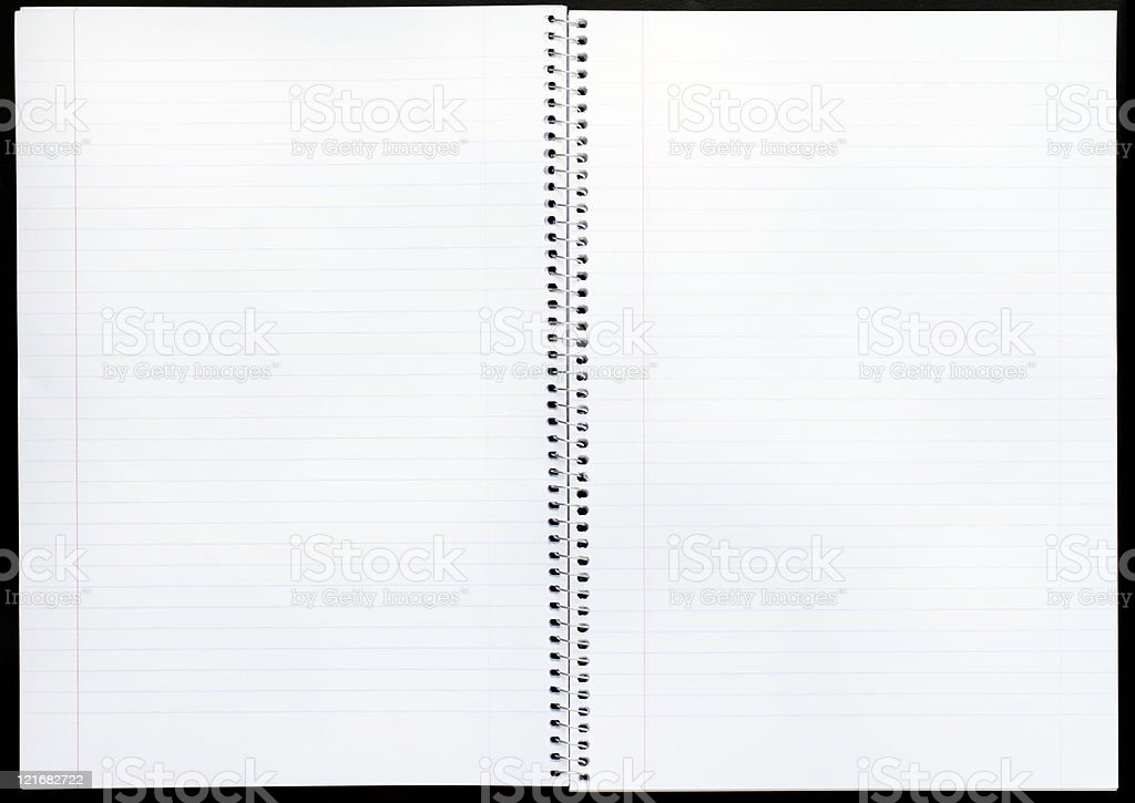 Open notepad stock photo