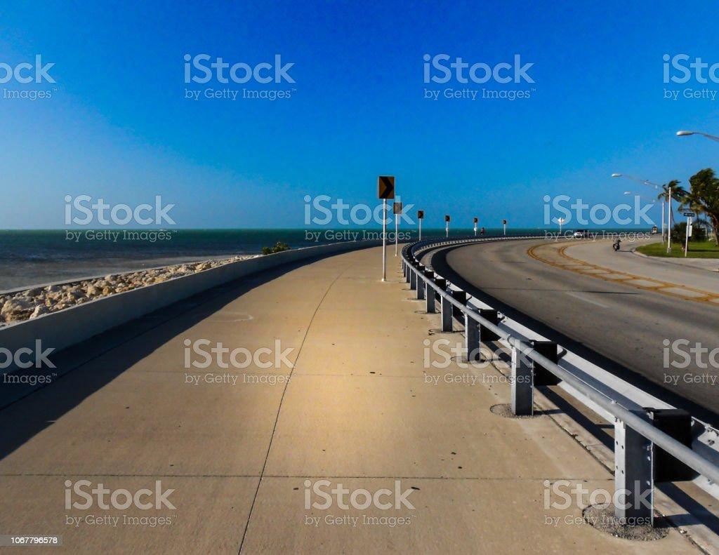 Open oceanside road in Key West Florida stock photo