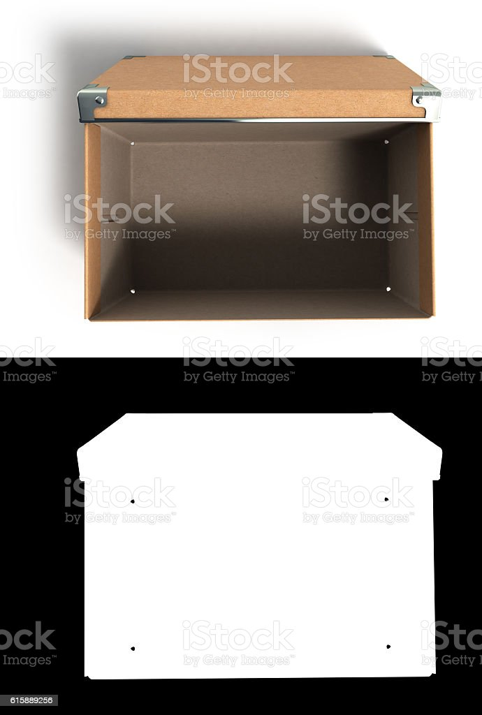 open Office paper box for documents 3d illustration stock photo