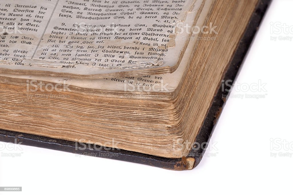 Open old bible Version 6. royalty-free stock photo