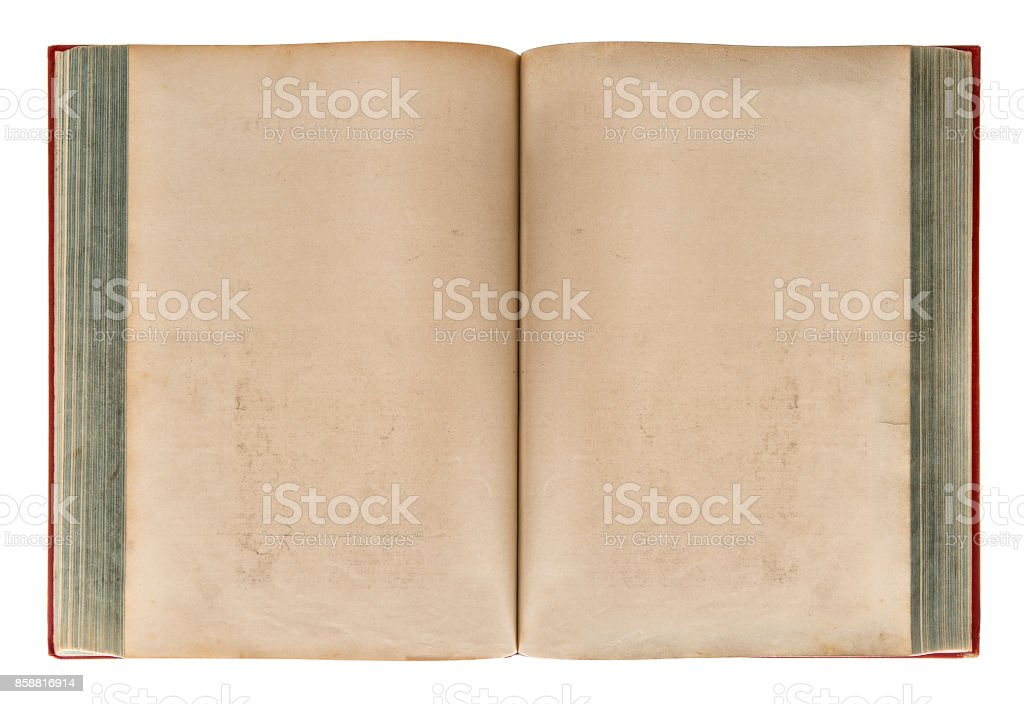 Open old book Aged paper texture stock photo