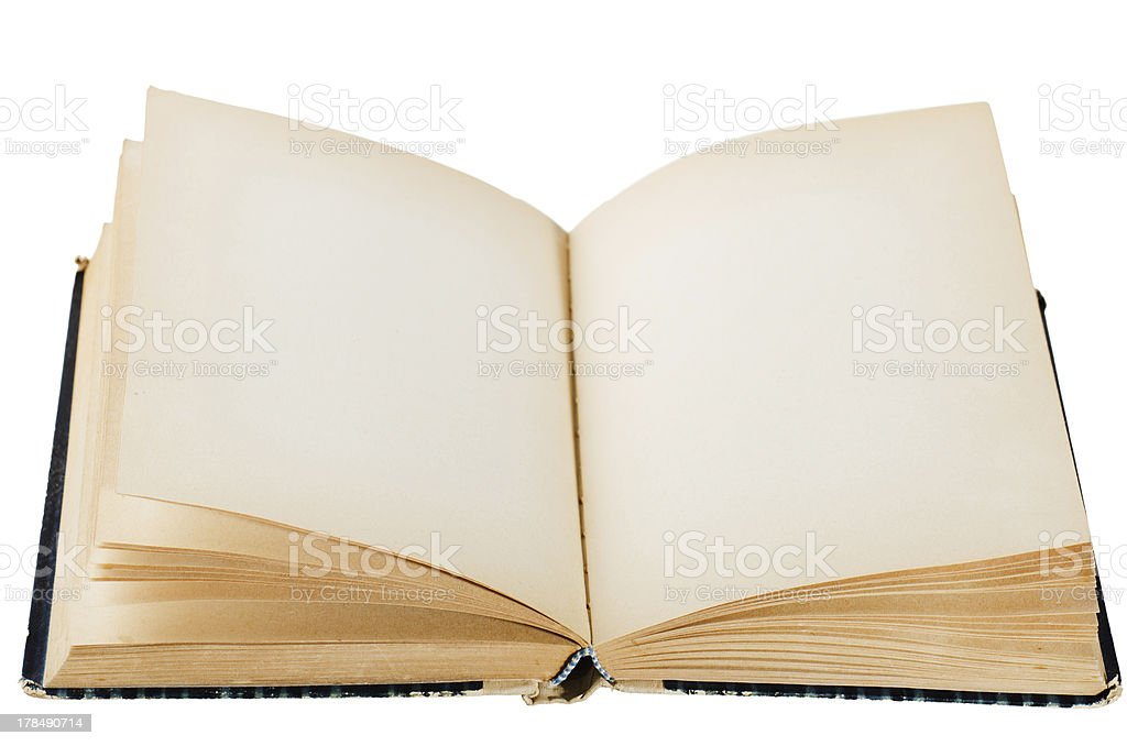 open old book, isolated on white royalty-free stock photo