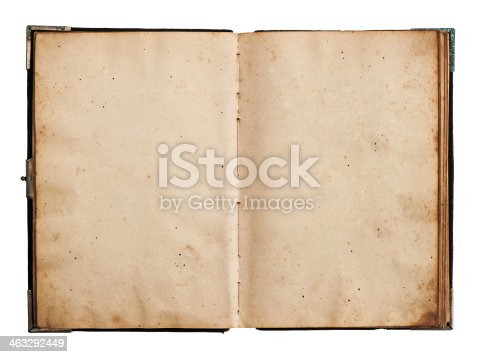 istock open old book isolated on white 463292449