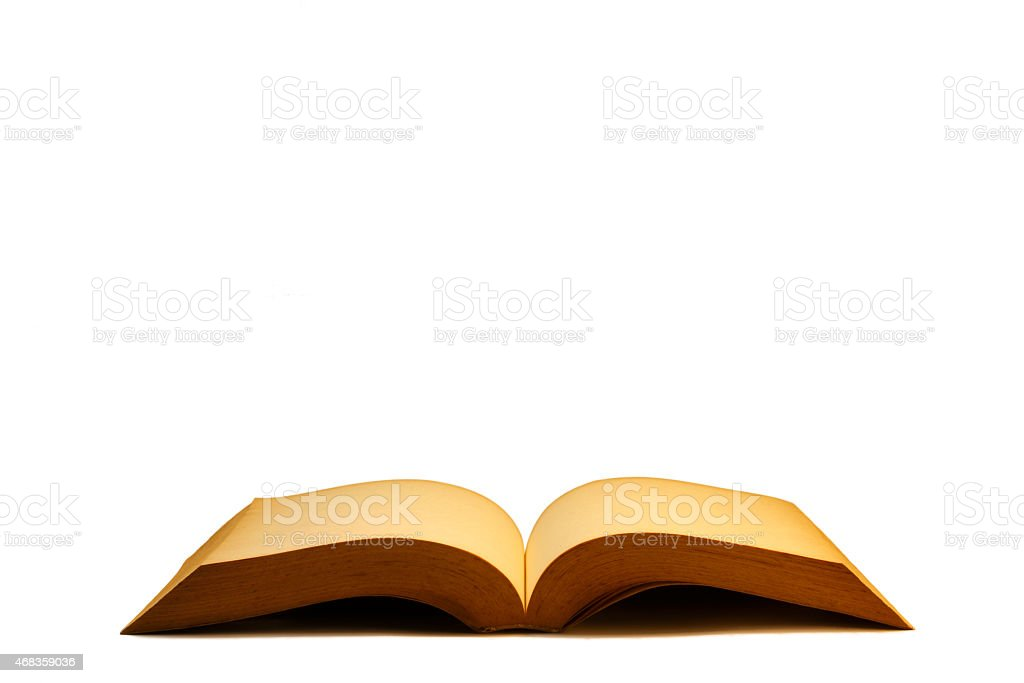 Open old Book Side View royalty-free stock photo